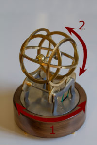 Decorative Vintage Connected Object: the 2 Rotary Movements