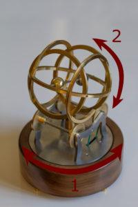 Objet Décoratif Vintage Connecté: 2 mouvements de rotation